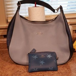 Coach Blue hobo bag and wristlet